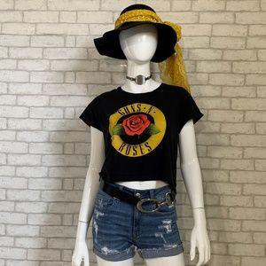 Guns - N - Roses cropped band t-shirt - M